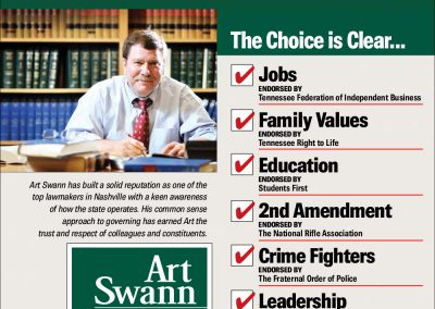 rjd group - Political - Art Swann - Vote Tomorrow - Newspaper