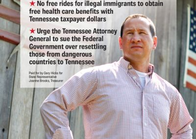 rjd group - Political - Gary Hicks - Stop Illegal Immigration - Newspaper