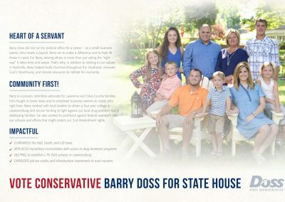 rjd group - political - Barry Political - Doss for State House - Mail