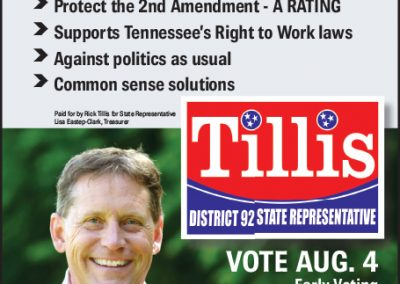 rjd group - Political - Rick Tillis - Endorsed by THE PEOPLE - Newspaper